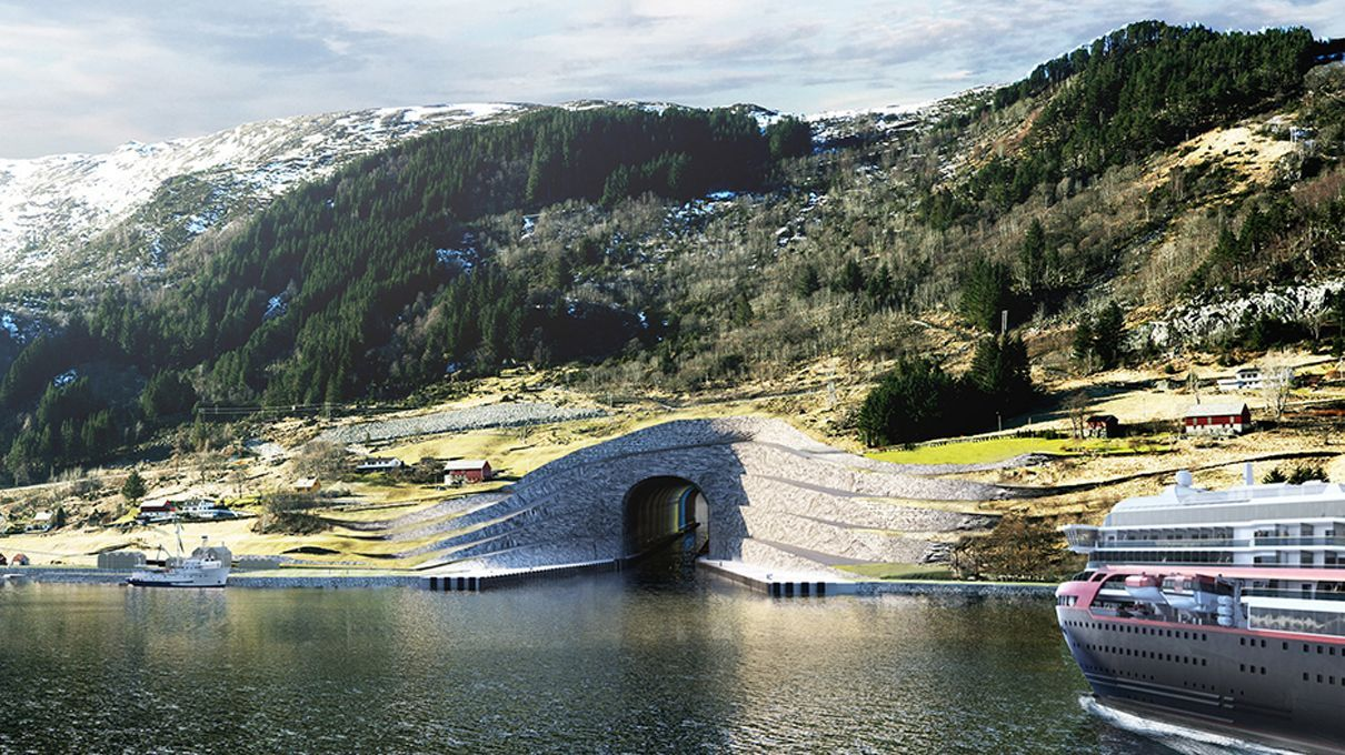 World's Largest Ship Tunnel Will Go Straight Through Norwegian Mountain